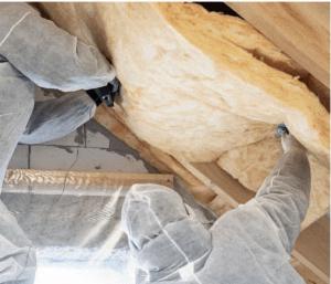 Mise en place d'une isolation dans une toiture
